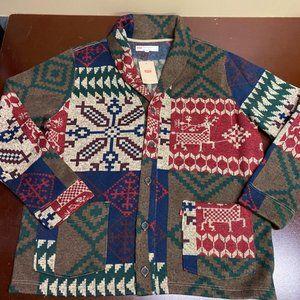 Levis Aztek Long Sleeves Cardigan Sweater